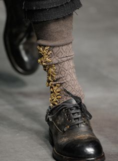 Embroidered socks from Dolce & Gabbana f/w 2012