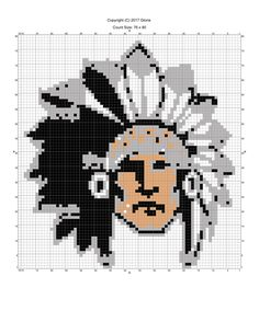Indian cheif x-stitch pattern