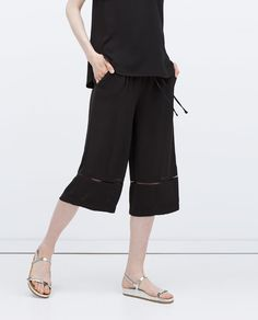 ZARA - WOMAN - CROPPED WIDE-LEG TROUSERS