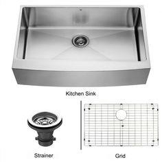 Vigo 36 X 2225 Farmhouse Kitchen Sink