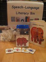 The Next Chapter in my Speech World: Eric Carle Books in my preschool literacy bin