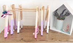 Kids accessory rack, stand, hanger. Wooden decor, shelfies 2 sizes, 9 colours available https://butterflygardenforkids.com.au
