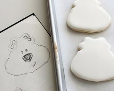 sketch!! first Easy Polar Bear Cookie 3