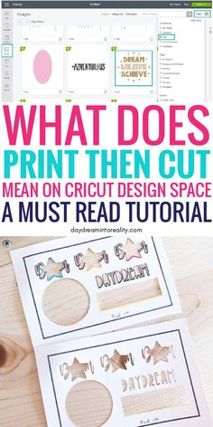 Learn how to use Print then Cut with your Cricut Maker or Explore Air! Hi Daydreamers! Today you are going to learn - whether you have Maker or Explore Cricut Explore Projects, Cricut Explore Air, Vinyl Projects, Craft Projects, Circuit Projects, Craft Ideas, Decor Ideas, Cricut Craft Room, Cricut Vinyl