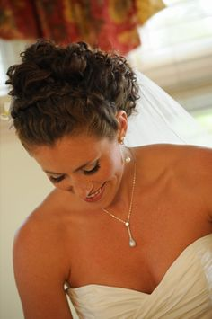 wedding day pearls - now worn by 3 generations:)