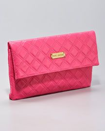 Marc Jacobs ~ Large Eugenie Quilted Leather Clutch. ♡♡