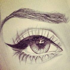 Eyes Drawing it looks like a real eye .......... :o