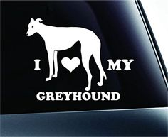 #2 I Love My Greyhound Dog Symbol Decal Paw Print Dog Puppy Pet Family Breed Love Car Truck Sticker Window (White) ExpressDecor http://www.amazon.com/dp/B00SZCC21A/ref=cm_sw_r_pi_dp_o152ub074WRXV