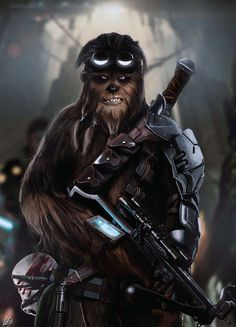 Wookie, Petri Rahkola on ArtStation at https://www.artstation.com/artwork/JZWgZ