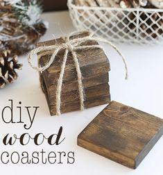 DIY Rustic wood coasters - gift idea // Egyszerű poháralátétek fából - kreatív ajándék (barkácsolás) // Mindy - craft tutorial collection // #crafts #DIY #craftTutorial #tutorial #winterCrafts #winter #ChristmasCrafts #ChristmasDIY