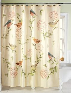 Birds And Blooms Floral Shower Curtain Collections Etc http://www.amazon.com/dp/B00E0BRPFI/ref=cm_sw_r_pi_dp_bS6xub1W956GC
