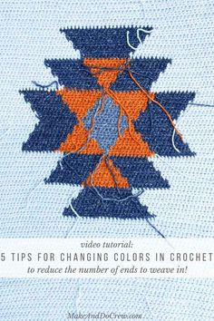 In this brief video tutorial, learn five tricks about how to change colors in crochet without cutting yarn to create fewer ends to weave in when you're finished. via @makeanddocrew