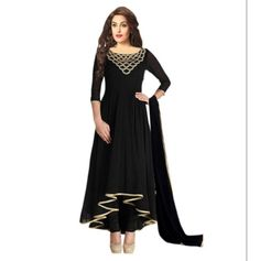 Buy Vraj Fashion Black Beauty salvar suit by vraj fashion, on Paytm, Price: Rs.825