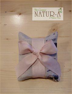 Sacchetto bomboniera naturale con scritte per saponetta, fiocco rosa 🎀 per bimba💗