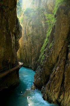 Leutaschklamm Gorge, Mittenwald, Bavaria, Germany. Our tips for 25 things to do in Germany: http://www.europealacarte.co.uk/blog/2011/11/21/what-to-do-in-germany/
