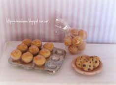 Homemade Muffins and cookies - Dollhouse Miniature 1:12 scale. €14.00, via Etsy.