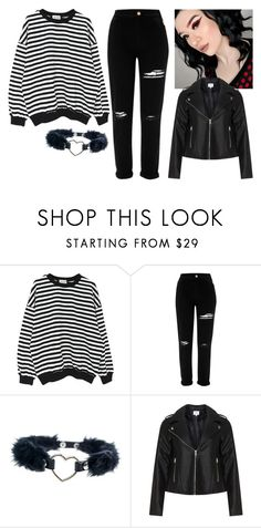 """Ridin' through the city with me Just watching you glow I'm in the passenger seat You're in control"" by jasmine-quarry ❤ liked on Polyvore featuring WithChic, River Island and Zizzi"