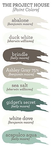 Coastal-themed paint colors Jenallyson - The Project Girl - Fun Easy Craft Projects including Home Improvement and Decorating - For Women and Moms Coastal Paint Colors, Paint Colors For Home, Wall Colors, House Colors, Paint Colours, Beachy Colors, Nautical Colors, Relaxing Colors, Paint Schemes