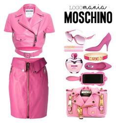 """Moschino Barbie.+Logomania."" by marynela-voda on Polyvore featuring Moschino"