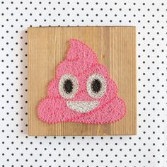 Poop emoji wall decoration in pink great gift for by GoodLights
