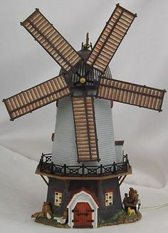 Department 56 Dickens Village Porcelain Lighted Village House Bidwell Windmill