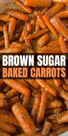 Roasted Vegetable Recipes, Veggie Recipes, Vegetarian Recipes, Cooking Recipes, Healthy Recipes, Baked Carrots, Brown Sugar Roasted Carrots, Roasted Potatoes And Carrots, Side Dishes