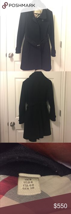 """Authentic Burberry Brit Coat Great used condition. No damage at all. Size 6. The length from the size tag to bottom is 34"""". Burberry Jackets & Coats Trench Coats"""