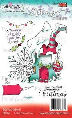 New Polkadoodles Clear Stamps Gnome For Xmas Let/'s Go