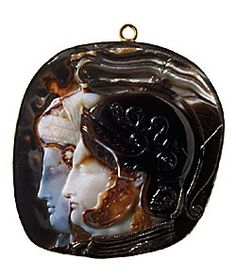 cameos - 278-269 bc Roman Cameo - Ptolemaic Royal Couple hellenistic - humbling