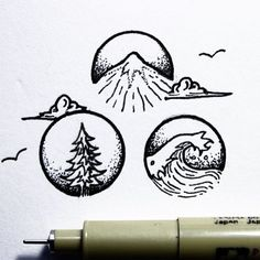 And it's Friday! Quick morning doodle. Song for the day is Lonesome by @drdogmusic. Have a great weekend, everyone! • • • • • • #illustration#design#art#blackwork#doodle#linework#mountains#waves#ocean#sea#forest#trees#outdoors#nature#creatives#simple#creativity#dotwork#rva#natureart#simple#minimal#beautiful#graphicdesign#adventure#explore#getoutthere