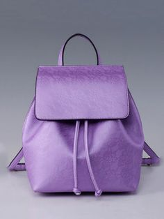 Drawstring Casual Small purple  Backpack