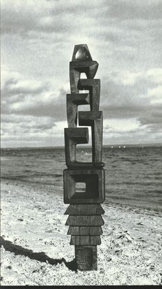 Vincas Jomantas, TOWER OF GRIEF, WOOD, 1958