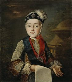 Portrait of child (later Emperor) Paul I Petrovich Romanov Oct Mar Russia by unknown artist in mid Adele, Catherine The Great, Famous Artwork, Hermitage Museum, Grand Duke, Portraits, Imperial Russia, Russian Art, Christmas Carol