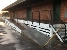 Train Depot handrail.  Circle C Industries #circlecindustries   #handrails  #traindepot