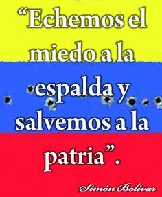 Sentence of Simon Bolivar // Frase de Simón Bolívar..