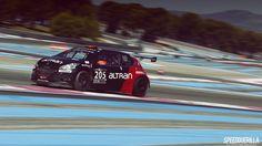 Peugeot 208 GTI du Team Altran lors des 24H du Paul Ricard - 2015