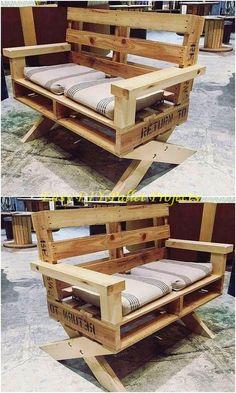 20 Brilliant DIY Pallet Furniture Design Ideas to Inspire You - Paletten projekte Diy Furniture Cheap, Pallet Furniture Designs, Wooden Pallet Furniture, Diy Furniture Plans, Diy Furniture Projects, Wooden Pallets, Wooden Diy, Garden Furniture, Crate Furniture
