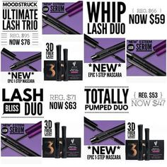 For a limited time grab a lash bundle at a discount! Totally Pumped Duo, Lash Bliss Duo, Ultimate Lash Trio or the Whip Lash Duo! Perfect Stocking Stuffer for any Lady!