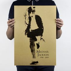 Michael Jackson C Style Poster Kraft Paper Nostalgic Bar Decoration Painting Jackson MJ Retro Poster Wall Stickers 51x36cm ** You can get more details by clicking on the image. #HomeDecor