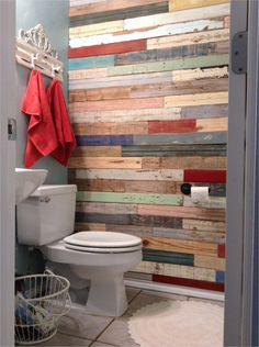Creative 41 Diy Pallet Bathroom Walls Ideas 62 Diy Bathroom Renovation Wood Wall Salvaged Fence and 6 diy bathroom ideas Creative! 41 DIY Pallet Bathroom Walls That Will Make Your Bathroom Stunning - DecoRecent Pallet Wall Bathroom, Diy Pallet Wall, Diy Bathroom, Pallet Walls, Diy Pallet Projects, Bathroom Wall Ideas, Pallet Ideas, Palet Wood Wall, Neutral Bathroom