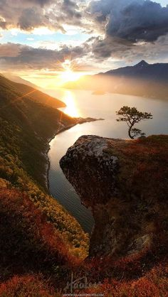 """landscape-lunacy: """"View from """"Vettamyra"""" in Sunndal over the Fjord, Norway - by Haakon Nygaard """" Beautiful Norway, Beautiful World, Beautiful Images, Amazing Photography, Landscape Photography, Nature Photography, Photos Voyages, Ciel, Amazing Nature"""
