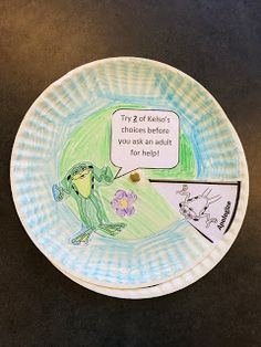 Ms. Sepp's Counselor Corner: Kelso is Ready to Help! Kelso Choice Paper Plate Wheels, 2nd grade