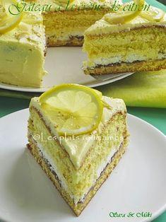 Les plats roumaines: Gâteau à la crème de citron (lemon curd)