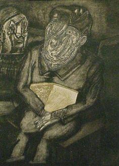 Jose Luis Cuevas, Portrait of a Dark Figure available at #gallartcom