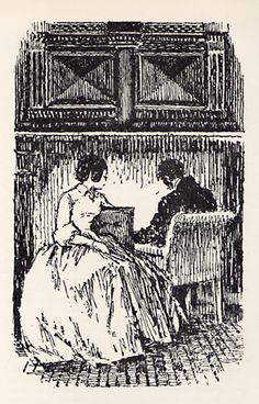 After supper, he began to ask me many questions  -  Jane Eyre Illustrated: Lynton Lamb