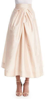 Monique Lhuillier Bridesmaids Tea-Length Taffeta Skirt