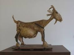 """""""She-Goat"""" Picasso Museum, Paris. by Pablo Picasso Famous Sculptures, Animal Sculptures, Sculpture Art, Dora Maar, Ceramic Animals, Ceramic Art, Pablo Picasso Sculptures, Cubist Movement, Guernica"""