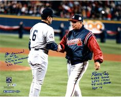 Bobby Cox/Joe Torre Dual Signed 16x20 Photo w/ 'HOF 14, 2504-2001, 95 WS Champs, 4508 Games' Insc. by Bobb Cox & 'HOF 14, 2326-1997, 96, 98, 99, 00 WS.C, 4,329 Games' Insc. by Joe Torre (MLB Auth)