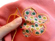 Torn Shirt = Great Opportunity! Using reverse appliqué to patch a hole. By Diane Gilleland Here's a decorative way to repair a prominent hole (or stai