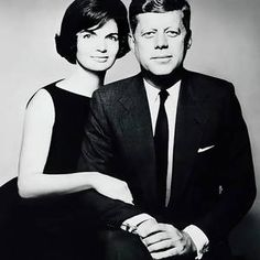 President John F. Kennedy and First Lady Jackie Kennedy by Daniel Hagerman